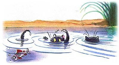 Сказка Три котёнка картинка 13