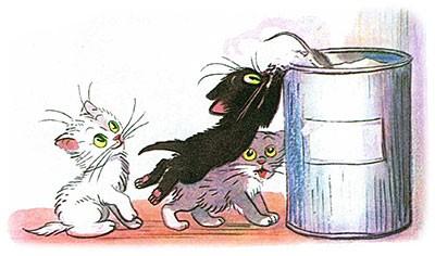 Сказка Три котёнка картинка 4