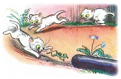 Сказка Три котёнка картинка 8