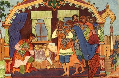 Сказка о мёртвой царевне и семи богатырях картинка