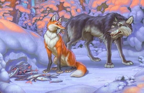 сказка Лисичка-сестричка и волк-дружище картинка