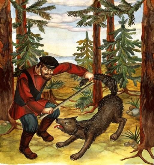сказка Портной и волк картинка
