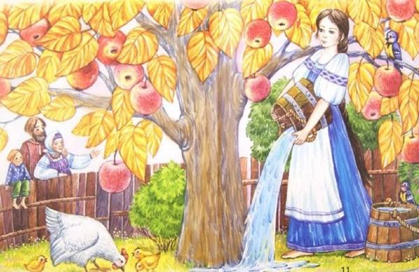 сказка Золотая яблонька
