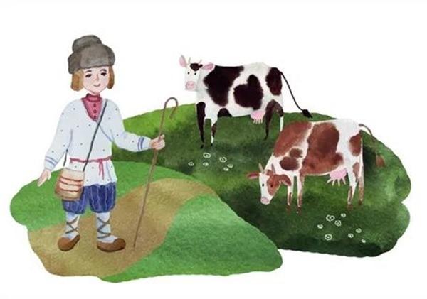Чагу и корова сказка