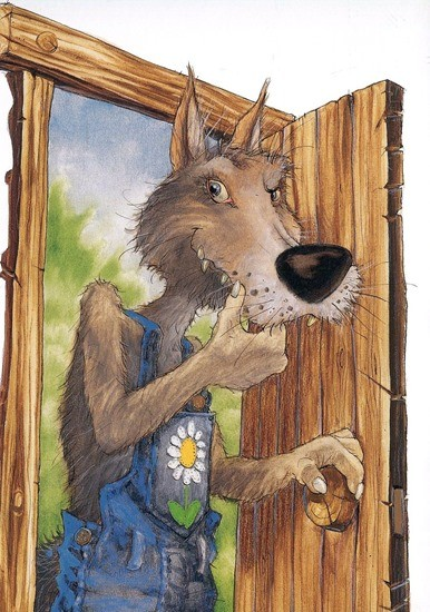 Как волк душу спасал сказка