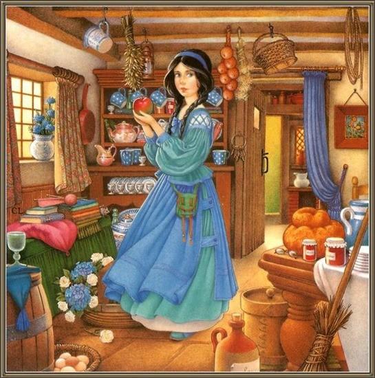 Молодая хозяйка и гости сказка