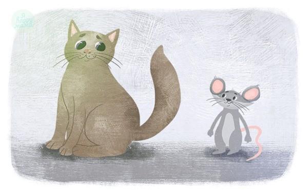 Мышонок и кот сказка