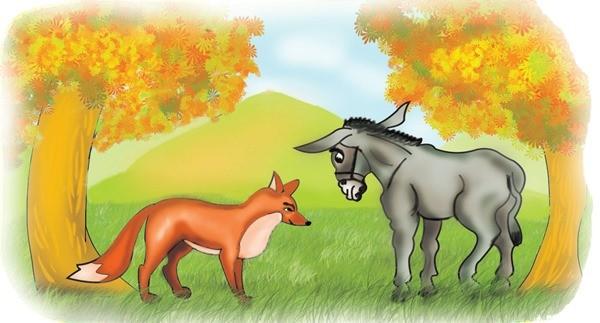 О дружбе осла и лиса сказка