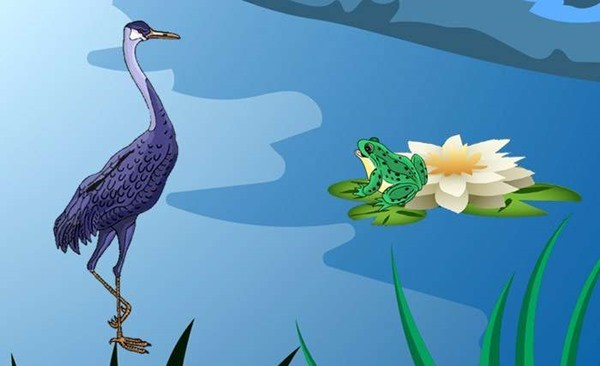 О дружбе журавля и лягушки сказка