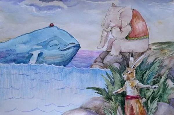 Сказка Заяц, который победил кита и слона_result