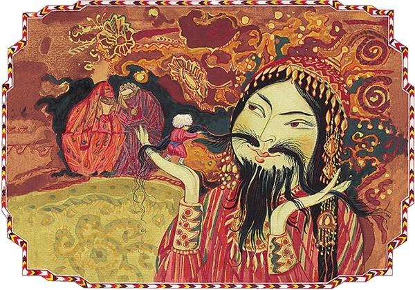 Сказка о бородатой невесте сказка