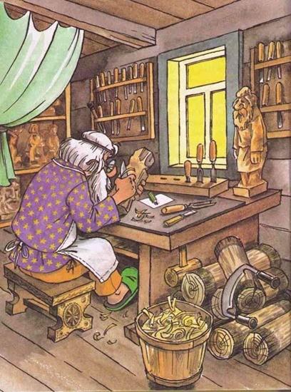 Старый плотник и его невестка сказка